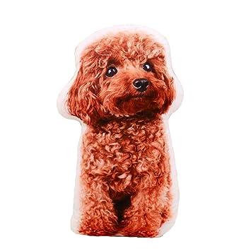 East Utopia Almohada de Forma de Perro de simulación de Almohada de Animales de Peluche 3D Toy # 3: Amazon.es: Hogar