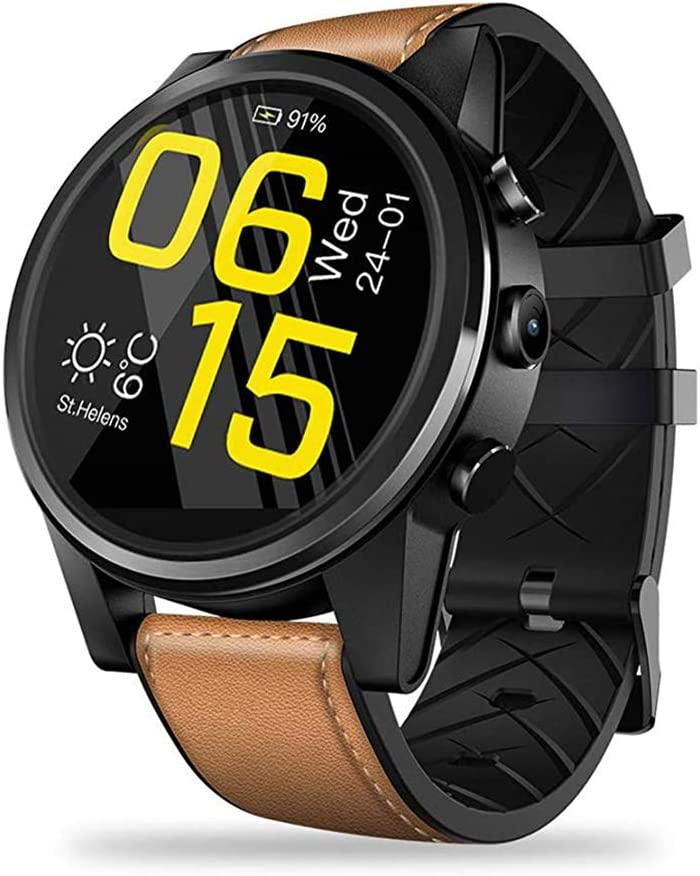 Zks Reloj Elegante, Gran Pantalla Táctil De Bluetooth Rastreador De Ejercicios con Monitor De Ritmo Cardíaco Y Saltos Antagonistas GPS para Android Smartwatch Entre Mujeres Y Hombres