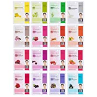 Dermal Korea Collagen Essence Full Face Facial Mask Sheets (16 Count (Pack of 1)...