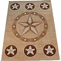 Texas Star Western Berber Beige Area Rug #CR835 (8 Feet X 10 Feet)