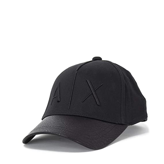 4e1b69528f1 Image Unavailable. Image not available for. Colour  Armani Exchange Men s  9540478A318black Black Cotton Hat