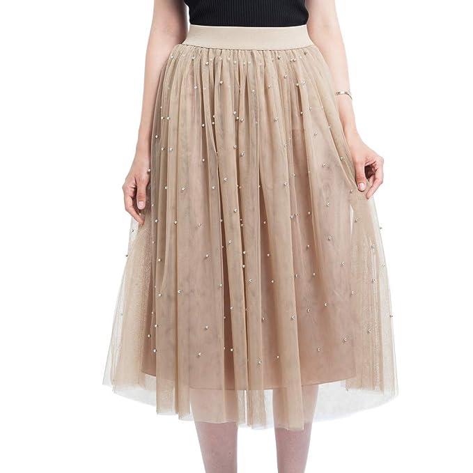 7e626b226 FAMILIZO Faldas Largas Y Elegantes Faldas Cortas Mujer Verano Faldas Mujer  Invierno Primavera Vestidos Mujeres Plus Tamaño Grano Malla Tul Falda  Plisada ...