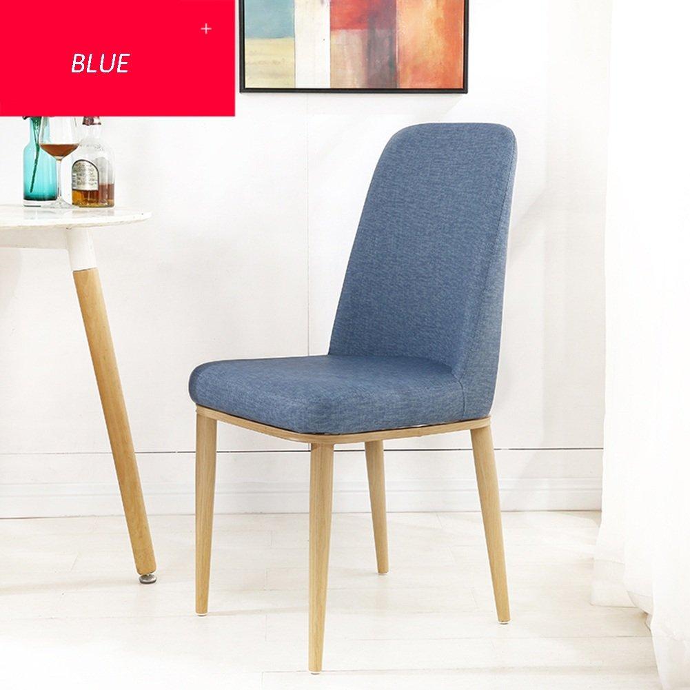 ZEMIN ダイニングチェア椅子の木の木製折り畳み 椅子ソファシートスツールテーブル背もたれソフトパッド入りソリッドウッドレッグ便利な訪問者、21色、43x43x90CM ( 色 : ブルー ) B0797GYMR6 ブルー ブルー