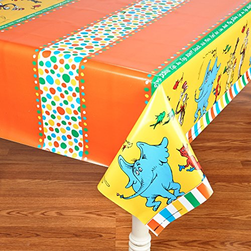 Dr Seuss Cat in the Hat Party Supplies - Plastic Table Cover