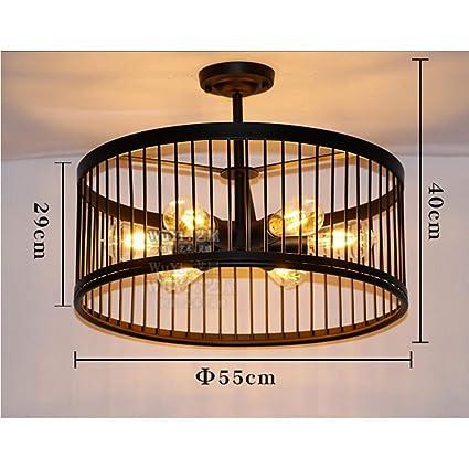 JZX Lámparas de techo decorativas para el hogar, Bar ...