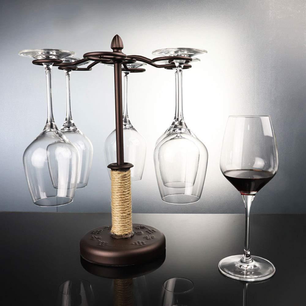 WBBJJ Wine Rack, Bar Home Creative Wine Rack Decoration se Puede Colgar 6 Tazas de cáñamo Cuerda de Hierro 6 portavasos: Amazon.es: Hogar