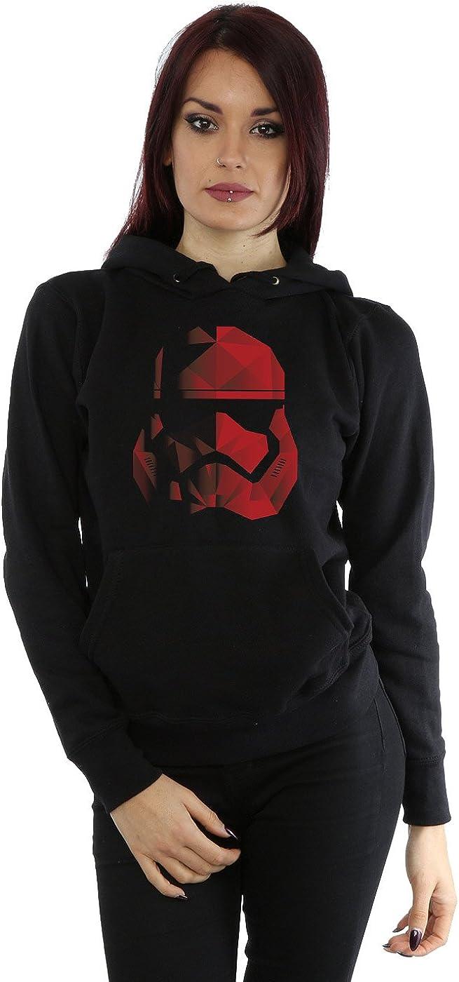 TALLA M. STAR WARS Mujer The Last Jedi Stormtrooper Red Cubist Helmet Capucha