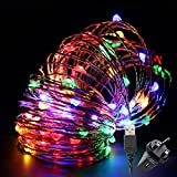 Led String Lights,TechRise 10-Meters Colorful 100 LEDS Star Starry Copper Wire Fairy String Lights For Holiday Party Wedding Christams Decoration - Multi Col