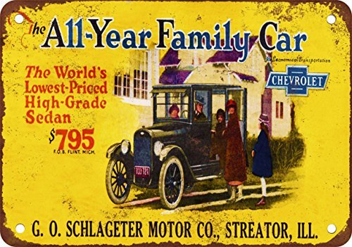1924 Chevrolet Vintage Look Reproduction Metal Tin Sign 12X18 Inches 2 (Pub Sign Mlb)
