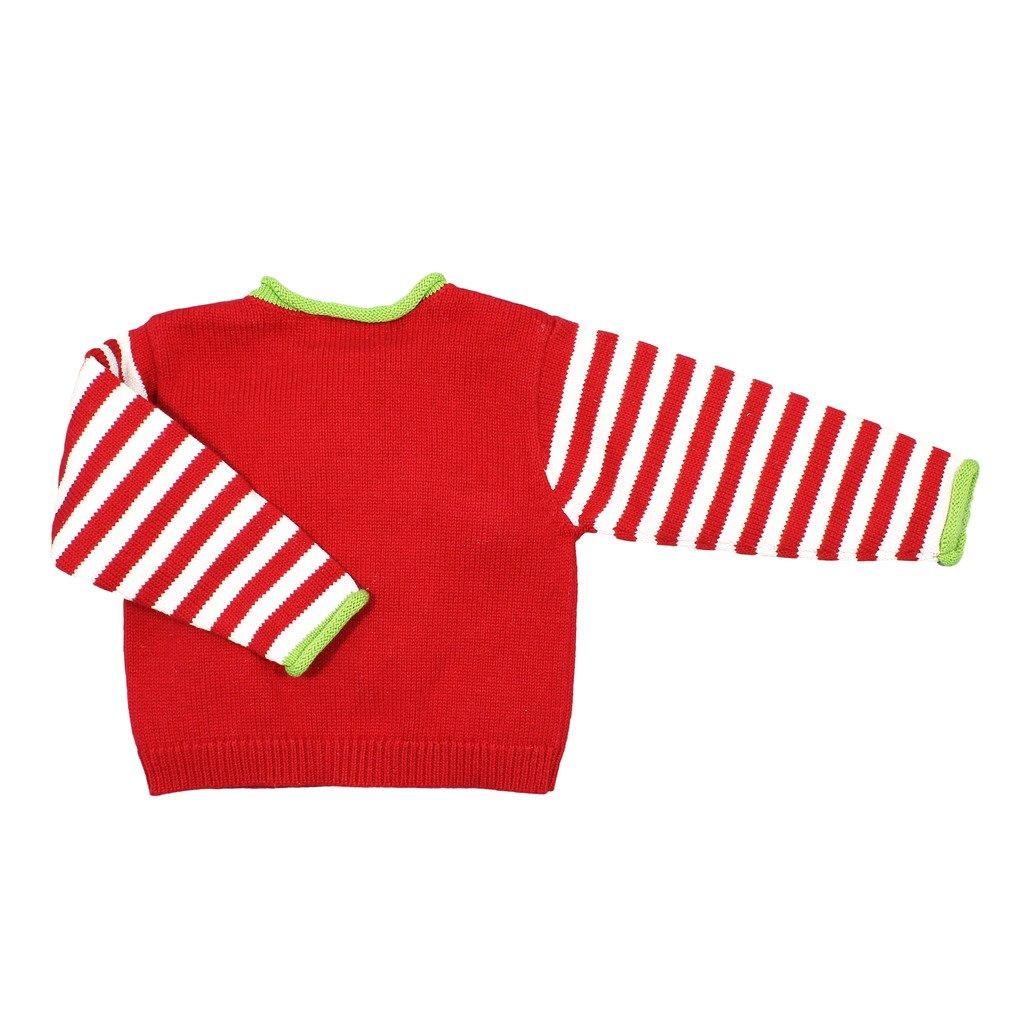 Zubels 100/% Hand-Knit Santa Claus Sweater All Natural Fibers