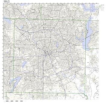Amazon.com: Dallas, TX ZIP Code Map Laminated: Home & Kitchen
