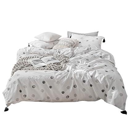 8b2fc22b61d 100% Cotton Tassel Decoration Bedding Sets Twin Abstract Geometric Pattern Duvet  Cover Sets Children Teen