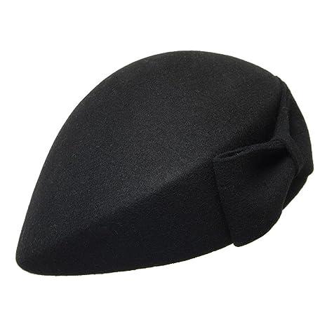 Tendenze Retro Moda Cappello Bowler Cappellino Lana Monocromatico Dome  Berrette Cappello Stewardess Cappello  c82b2df3bd64