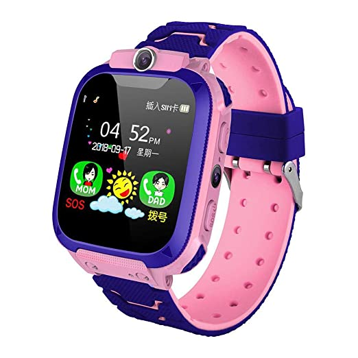 Kids Smart Watch Mobile Phone LBS Tracker SOS Call Chat de Voz ...