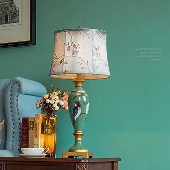 Lámpara de mesa de resina retro, pintada creativa, mesita de noche ...