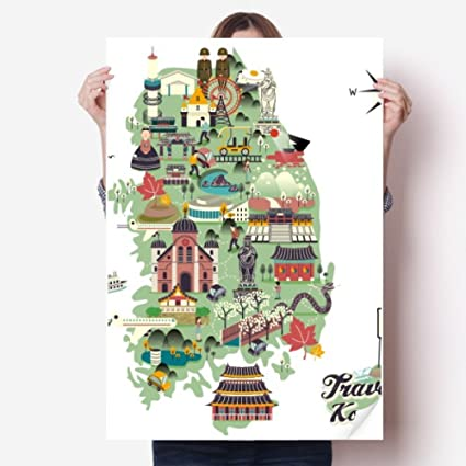 Amazon com: landmarks in South Korea Vinyl Wall Sticker Poster Mural