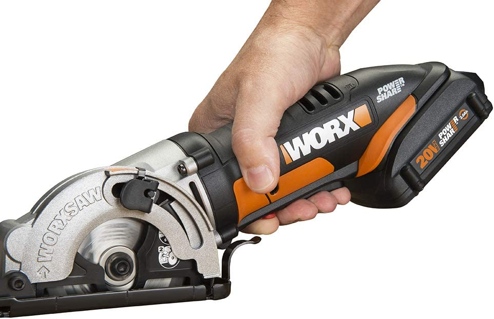 Worx Cordless Circular Saw 20-Volt Battery Depth Adjustment Charger Brake Blade