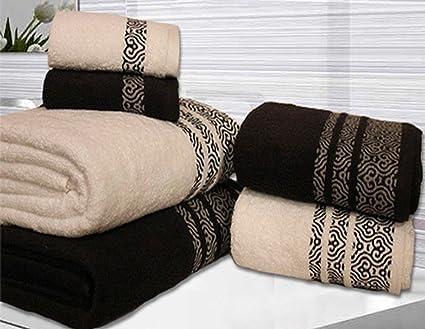 Toallas con diseño abstracto de Valentini, 600g/m2, para
