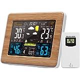 Romacci Cor Estação meteorológica interna/externa Temperatura sem fio Umidade Barômetro Termômetro Higrômetro Relógios de mes