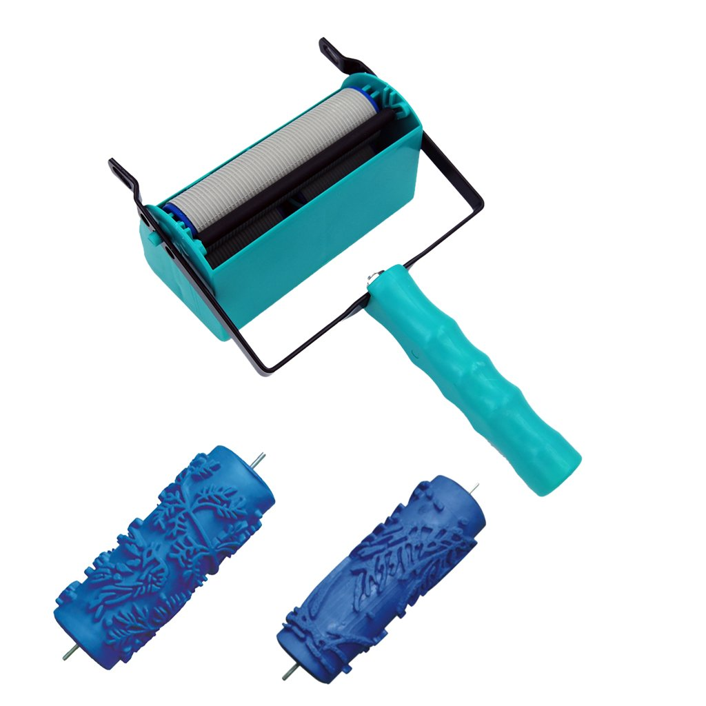 Homyl 5inch Double Color Wall DIY Decoration Painting Roller Brush Machine (2Pieces Brush Included)
