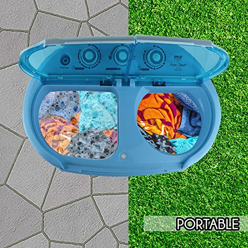 Upgraded Version Pyle Portable Washer Amp Spin Dryer Mini