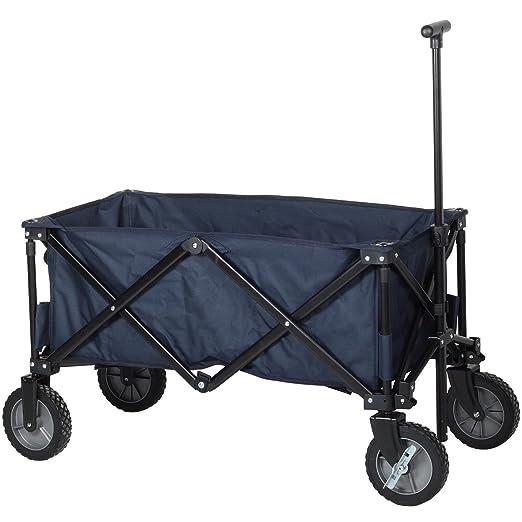53 opinioni per Carrello da giardino pieghevole Campart Travel HC-0910 – Capacità 70 kg – Blu