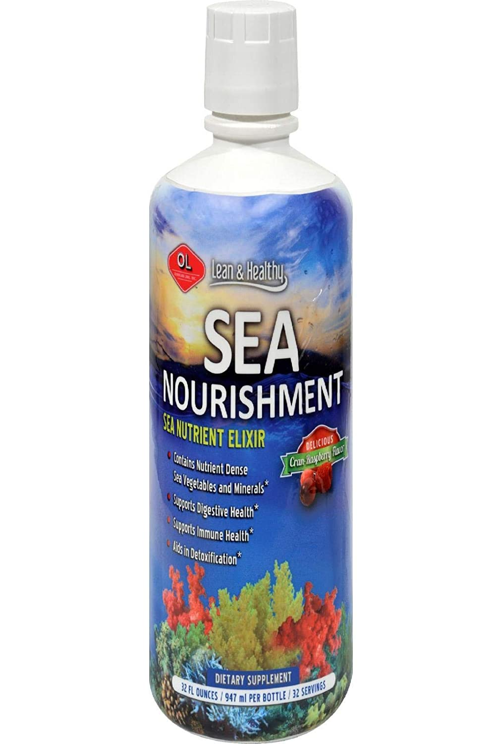 Olympian Labs Inc Sea Nourishment Cran-Raspberry 32 fl oz 947 ml