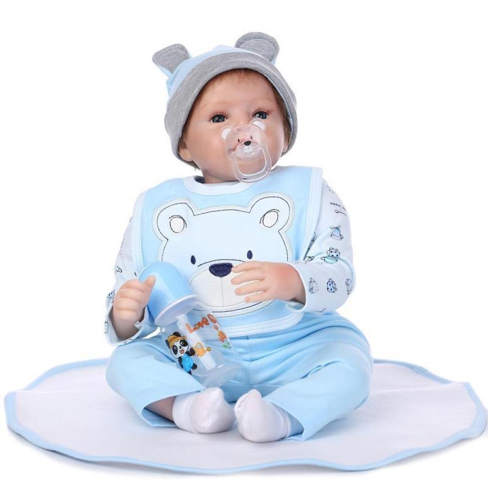 LLX Nicery Reborn Baby Dolls 22 Pulgadas 55 Cm Vinilo De Silicona Suave Reborn Toddler Realista Realista Muñecas Recién Nacidas Bebé Niña Juguete De Regalo De Navidad