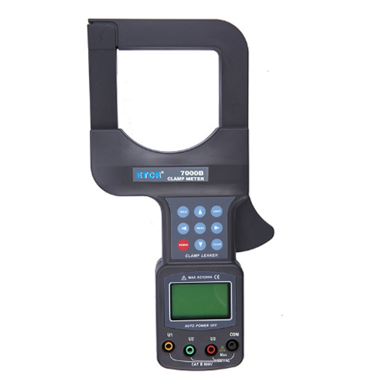 Lanlanmaoyimg Ammeter 0-2500A Big Range Digital AC Ammeter with 0-600V 3 Phase Voltmeter AC Current Clamp Meter ETCR7000B Precision Measurement