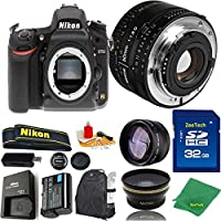 Great Value Bundle for D750 DSLR – 50MM 1.8D + 32GB Memory + Wide Angle + Telephoto Lens + Backpack