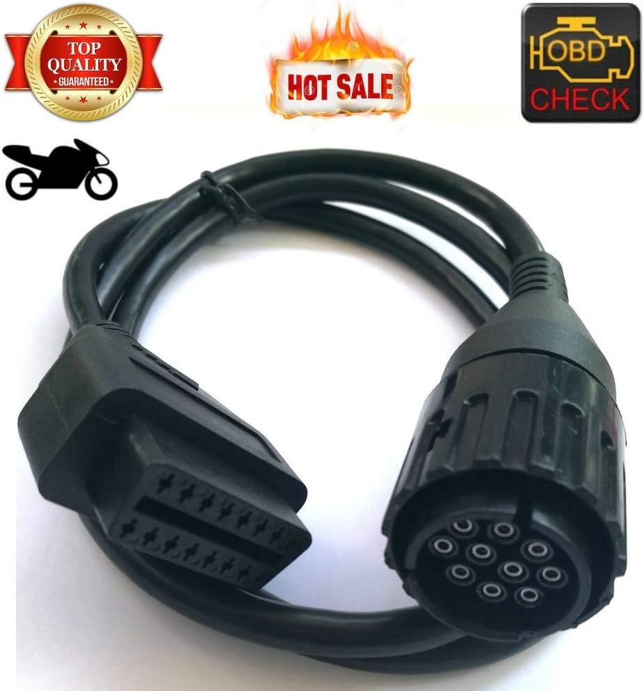 OBD 10pin Motocicleta Motocicleta Motor Adaptador de Diagnóstico Cable de Conector de la Motocicleta 10 pines ICOM D-HR-Tool®