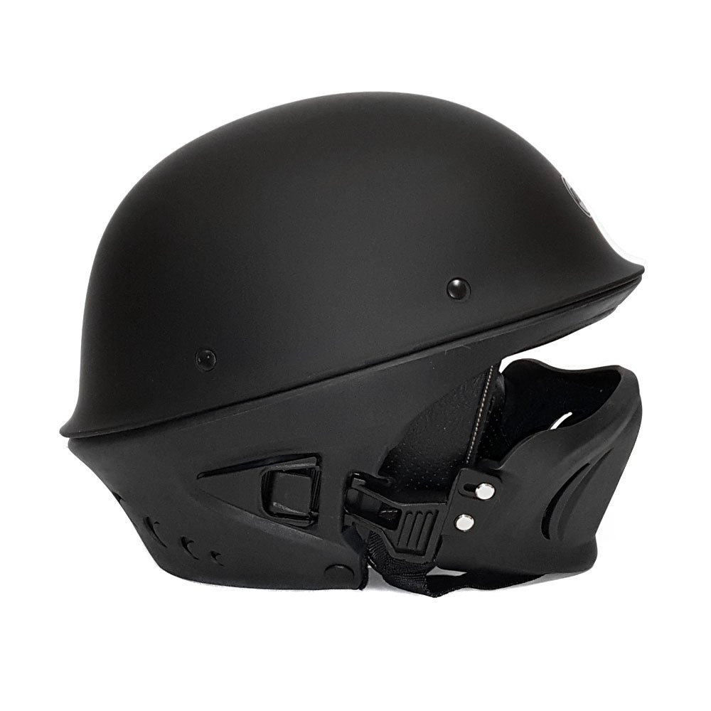 Amazon.com: Motorcycle Vader Street Helmet DOT Approved - Solid Matte Black - LARGE: Automotive