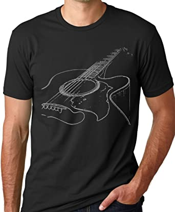 Amazon.com: Acoustic Guitar T-shirt Cool Musician Tee: Clothing