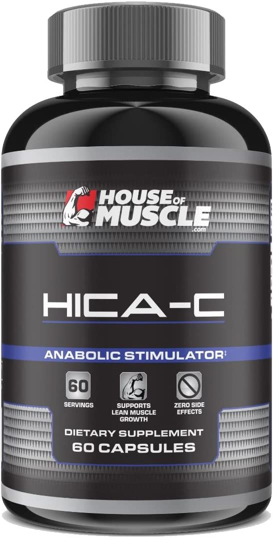 HICA-C – Non-Hormonal Muscle Growth Stimulator Supplement – 60 Capsules