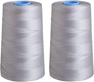 Connecting Threads Essential Cotton Thread 5000 Yard Cone Set of 2 (Grey)