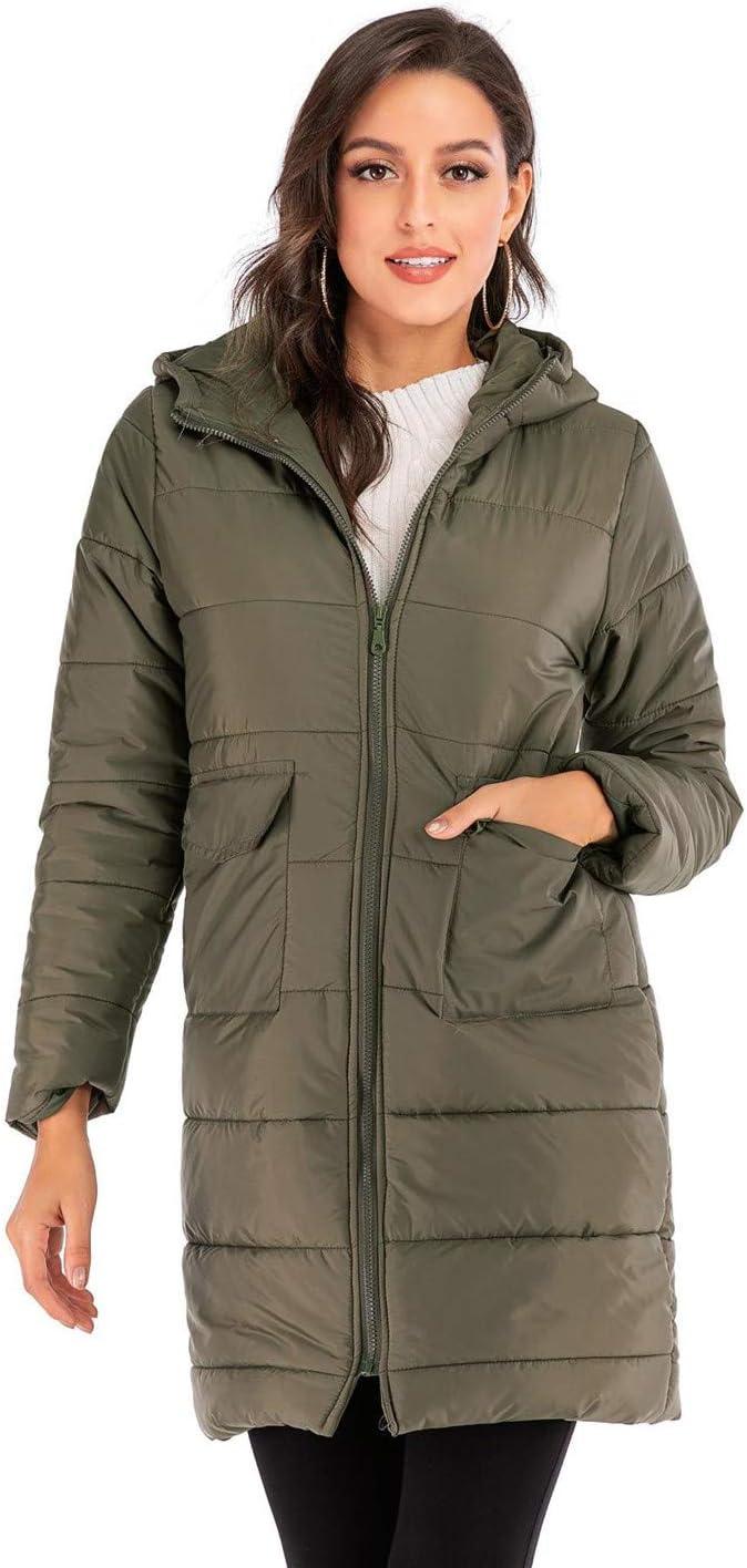 YXCL Parka Donna Piumino Autunno Inverno Cappotto Sezione Lunga Abiti Moda Donna Mantenere Caldo Addensare 2