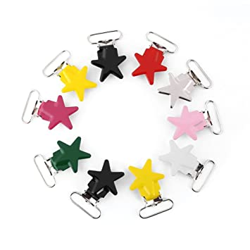10Pcs DIY Baby Dummy Plastic Pacifier Clip Holder Soother Pacifier Chain Making