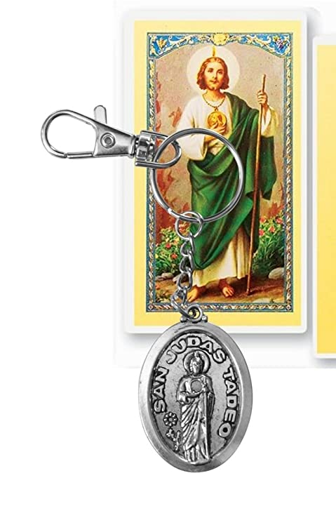Amazon.com: Saint Jude San Judas Stainless Steel Acero ...