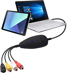 USB Video Capture Converter , VCR VHS to DVD, Analog Video to Digitize Digital PC for Windows