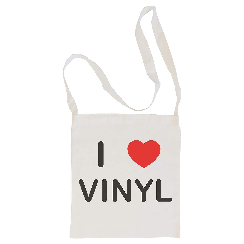 I Love Vinyl Cotton Maxi Shopping Bag