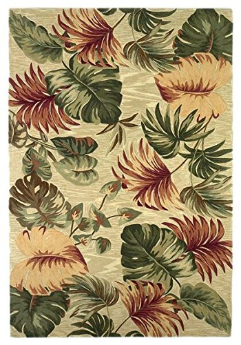 KAS Oriental Rugs Sparta Collection Palm Leaves Area Rug, 3'6