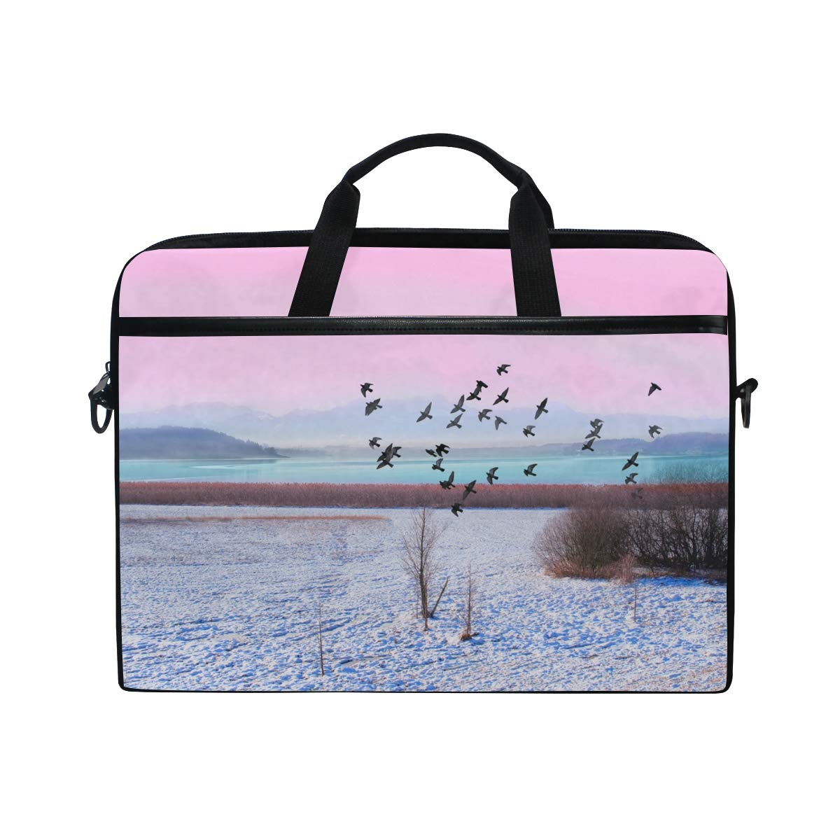 Briefcases Handbags Suitable for 15 Inch Computers Shoulder Bags Landscape Mens and Womens Computer Bags