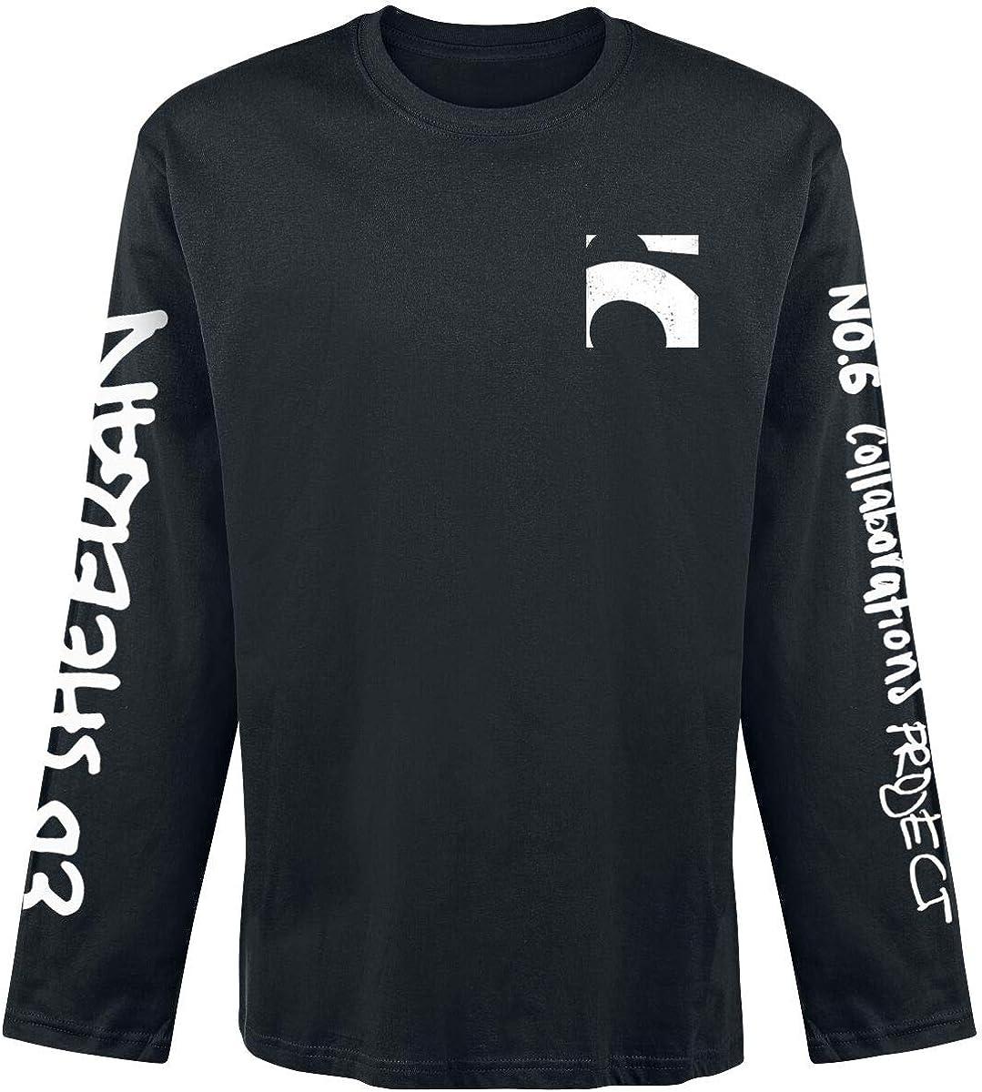 Ed Sheeran 6 Pocket Hombre Camiseta Manga Larga Negro, Regular: Amazon.es: Ropa y accesorios