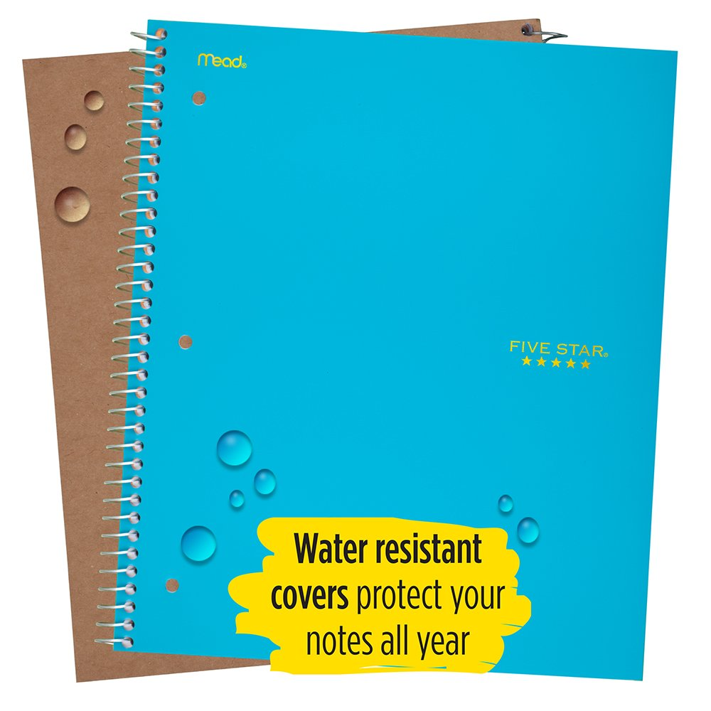 Five Star Spiral Notebook, College Ruled, 1 Subject, 100 Sheets, 1 ...