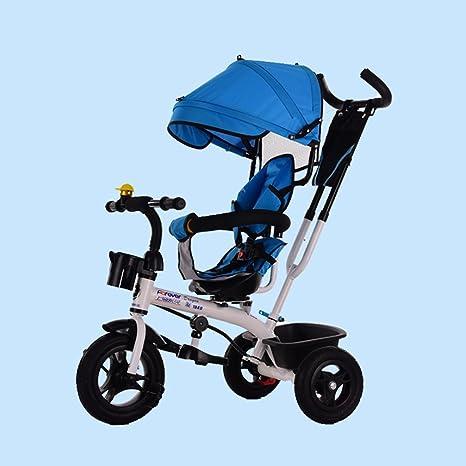 Baby stroller- Triciclo para niños Pedal para bebés Bicicleta Bebé Mano Bicicleta Deslizamiento para bebés