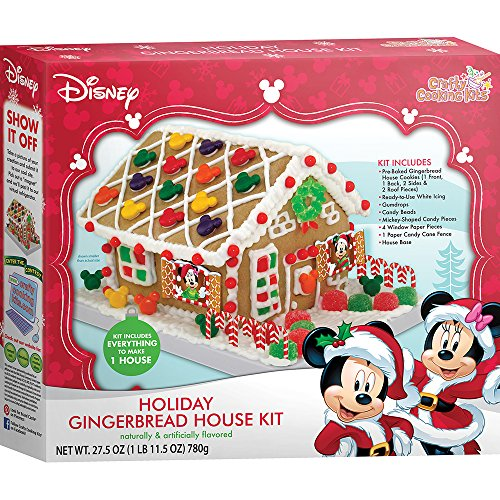 Crafty Cooking Kits Disney Holiday House Kit, Gingerbread, 27.5 Ounce (Cookie House Kit)