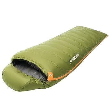 KingCamp - Saco de dormir de plumón (-21 °C) con cabecero (185 + 35) × 80 cm: Amazon.es: Deportes y aire libre