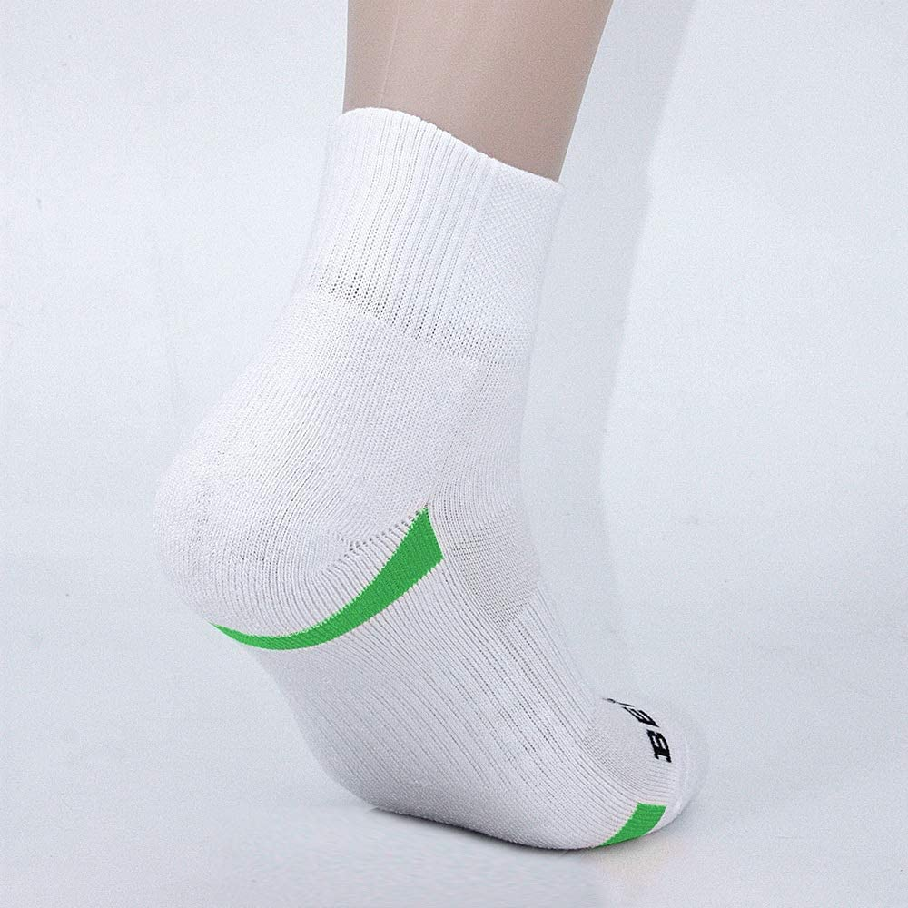6 Pairs BERING Womens Quarter Athletic Cushioned Socks for Running Workout Gym
