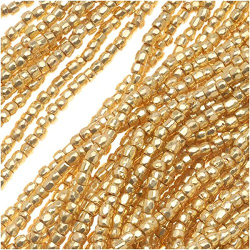 Beads Premium Seed (Czech Tri-Cut Seed Beads 10/0 'Gold Premium' (1 Strand/360 Beads))