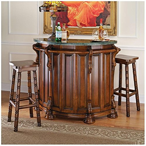 Design Toscano The Lion and Rose Marble-Topped English Bar Pub